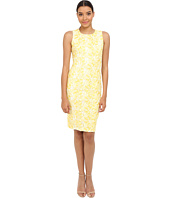 Badgley Mischka - Butterfly Lace Sheath Dress