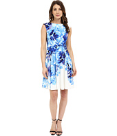 Maggy London - Rosey Peony Printed Scuba Fit and Flare