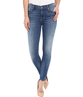 7 For All Mankind - The Ankle Skinny with Contrast Squiggle in Supreme Vibrant Blue