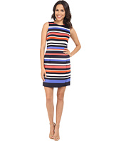 Vince Camuto - Printed Scuba Sleeveless Straight Body w/ Wrap Skirt