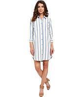 7 For All Mankind - Striped Shirtdress in Light Blue/White
