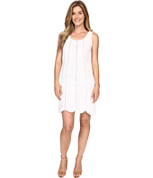 Allen Allen - Seamed Tank Dress w/ Lace Trim