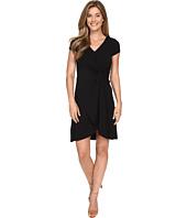 Mod-o-doc - Cotton Modal Spandex Faux Wrap Twist Front Dress