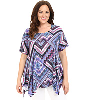 Nally & Millie - Plus Size Scarf Print Tunic
