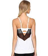 Beyond Yoga - Sleek Stripe Back Mesh Tank Top