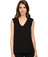 B Collection by Bobeau - Renee V-Neck Chiffon Layer T-Shirt