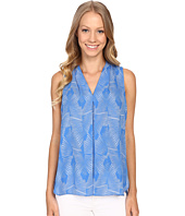 Vince Camuto - Sleeveless Graphic Strip Fan Invert Pleat Blouse