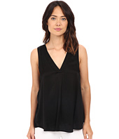 HEATHER - Woven Layered Split Tank Top