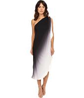 Halston Heritage - One Shoulder Flowy Ombre Dress