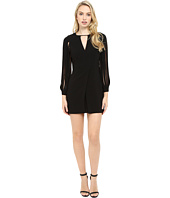 Halston Heritage - Multistrap Long Sleeve Crepe Dress