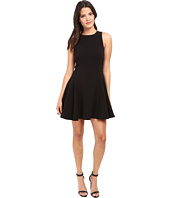 Halston Heritage - Round Neck Double Face Crepe Dress