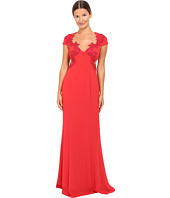 Marchesa Notte - Column Gown w/ Beaded Appliques