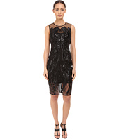 Marchesa Notte - Sleeveless Cocktail with Sequin and Ribbon Embroidery
