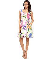 Adrianna Papell - Fit & Flare Floral w/ Pleated Skirt Dress
