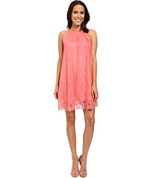 Adrianna Papell - Babydoll Embellished Neckline Dress