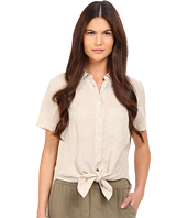 Theory - Hekanina Soft Linen Tie Top