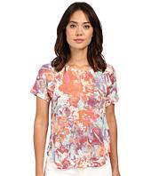 Nally & Millie - Short Sleeve Floral Knit Tee