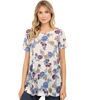 Nally & Millie - Embroidered Floral Print Tunic