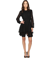 Just Cavalli - Leo Lace Long Sleeve Dress Tiered Skirt