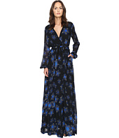 Just Cavalli - Military Stars Print Long Sleeve Maxi Dress