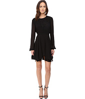 Just Cavalli - Pieced Eagle Detail Long Sleeve Solid Dress