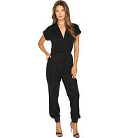 Just Cavalli - Solid Lurex Short Sleeve Jumpsuit