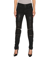 Just Cavalli - Distressed Coated Zip Detail Skinny Jeans
