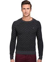 Original Penguin - Raglan Textured Exploded Herringbone Crew Neck Sweater