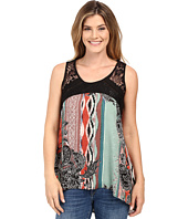 Scully - Charlane Paisley and Lace Tank Top