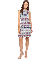 Donna Morgan - Poly Twill Elastic Waist Wide Pleat Dress