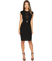 Versace Collection - Sleeveless Mesh Inset Dress