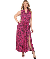 MICHAEL Michael Kors - Plus Size Small Pompano Slit Maxi Dress