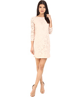 Vince Camuto - 3/4 Length Shift Dress w/ Shirt Tail Hem