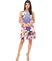 Vince Camuto - Sleeveless Printed Chiffon Shift Dress