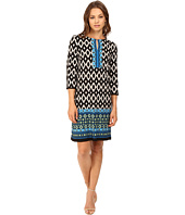 Christin Michaels - Sheila Multi Print Keyhole Dress