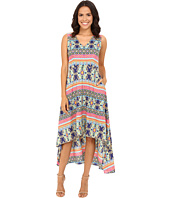 Christin Michaels - Talaya Printed V-Neck Dress