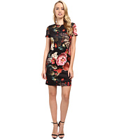 Christin Michaels - Floral Print T-Shirt Dress