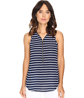 Christin Michaels - Nori Striped Sleeveless Blouse