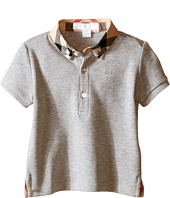 Burberry Kids - Short Sleeve Polo Shirt with Check Collar (Infant/Toddler)
