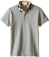 Burberry Kids - Short Sleeve Polo Shirt with Check Collar (Little Kids/Big Kids)