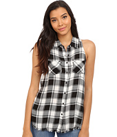 Brigitte Bailey - Brilynn Button Up Plaid Top with Pockets