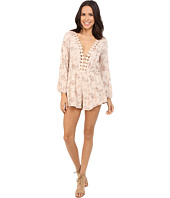 Brigitte Bailey - Tayanna Floral Romper with Crocheted Trim