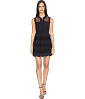 RED VALENTINO - Cady Tech and Soft Point D'Esprit Dress