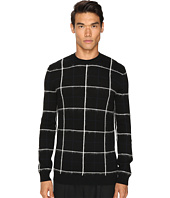 McQ - Brush Stripe Grid