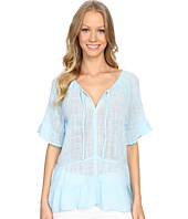 Dylan by True Grit - Caravan Cotton and Rayon Ruffle Tunic Top