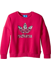 adidas Originals Kids - Everyday Iconics Trevoil Crew Sweatshirt (Toddler/Little Kids/Big Kids)
