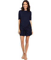 Michael Stars - Faux Wrap Tie Waist Tee Dress
