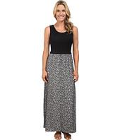 Calvin Klein - Maxi Dress w/ Leaf Jauquard