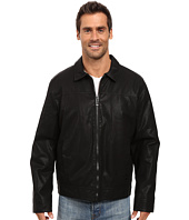 Calvin Klein - Faux Leather Shirt Collar Jacket