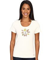 Life is Good - Circle Leaves Crusher Scoop Tee